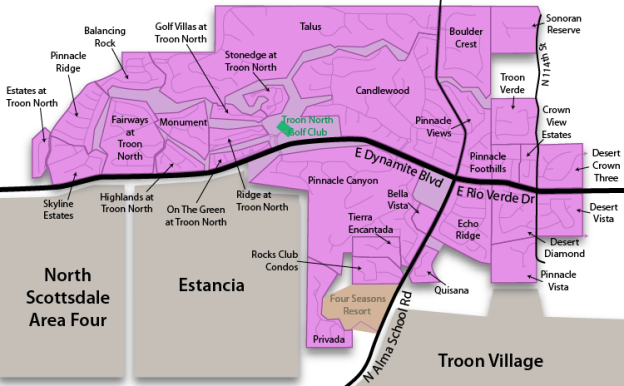 Troon North Real Estate Map