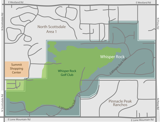 whisper rock real estate map
