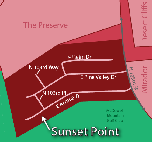 Sunset Point Real Estate Map