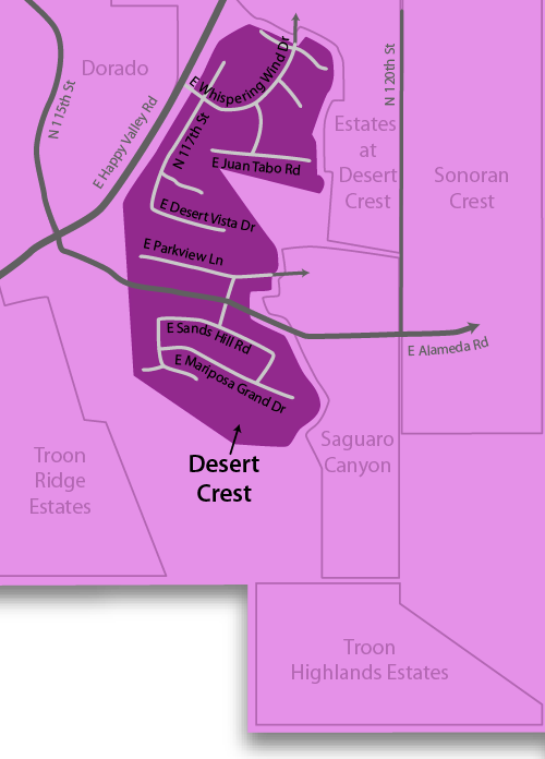 Desert Crest Homes For Sale Map